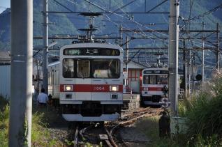 2011年9月24日 上田電鉄別所線 下之郷 1000系1004F・1001F
