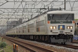 2011年10月18日 JR東日本東海道本線 辻堂~藤沢 185系C1+A8