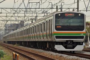 2011年10月18日 JR東日本東海道本線 辻堂~藤沢 E231系S-05以下15両