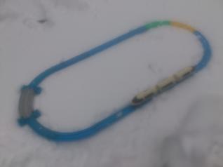 雪中プラレール