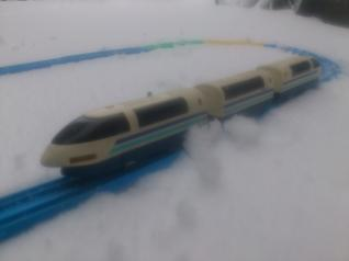 雪中スーパーひかり号
