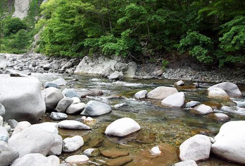 秋山郷渓流