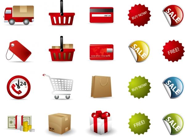 ネット ショッピング アイコン セット Shopping Vector Icon Set