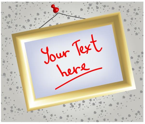 テキスト用ホワイトボードの額縁 photo frame message boards whiteboard