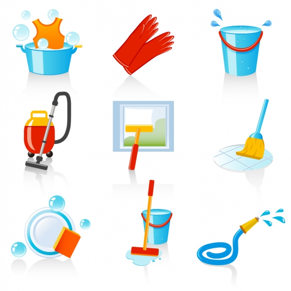 お掃除アイコン fine cleaning icon vector1