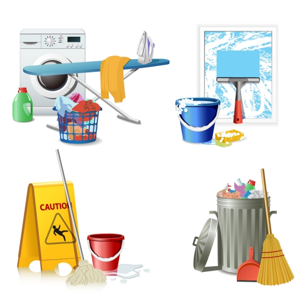 お掃除アイコン fine cleaning icon vector2
