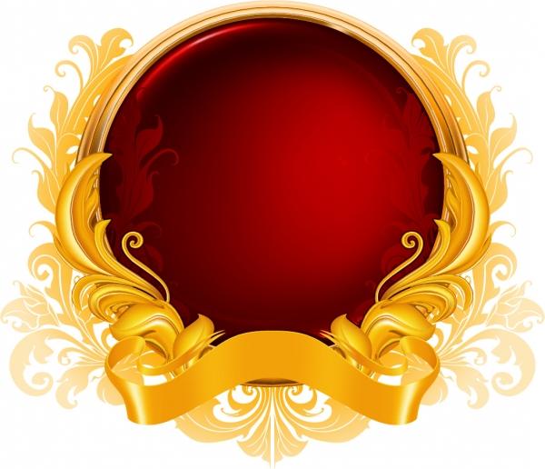 金色のリボンで包み込んだ球体 gold ribbon graphics pattern4