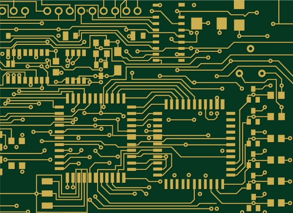 電子基板の背景 Printed Circuit Board