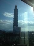 部屋からもしっかり台北101が見える