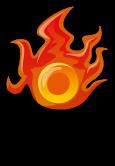 B魔物100_炎のオーブ