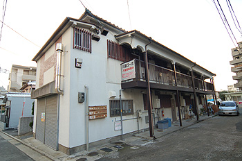 川島コーポ外観広角