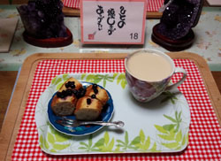 朝からケーキ!
