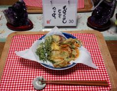 庭の紫蘇を天ぷらに!