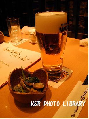 5月18日ビールとお通し