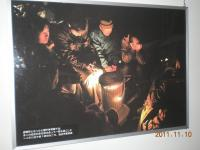 120404避難場所での石油ストーブ暖房