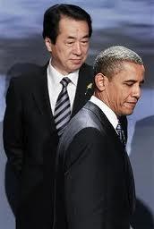 オバマ大統領にそっぽ向かれる管・元総理