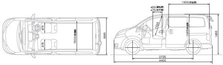 日産 バネット NV200 外装VX仕様 ルートバン