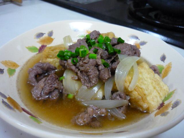 牛肉と厚あげの甘辛煮