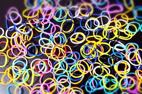 レインボールームの輪ゴム