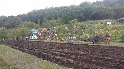 収容者農作業