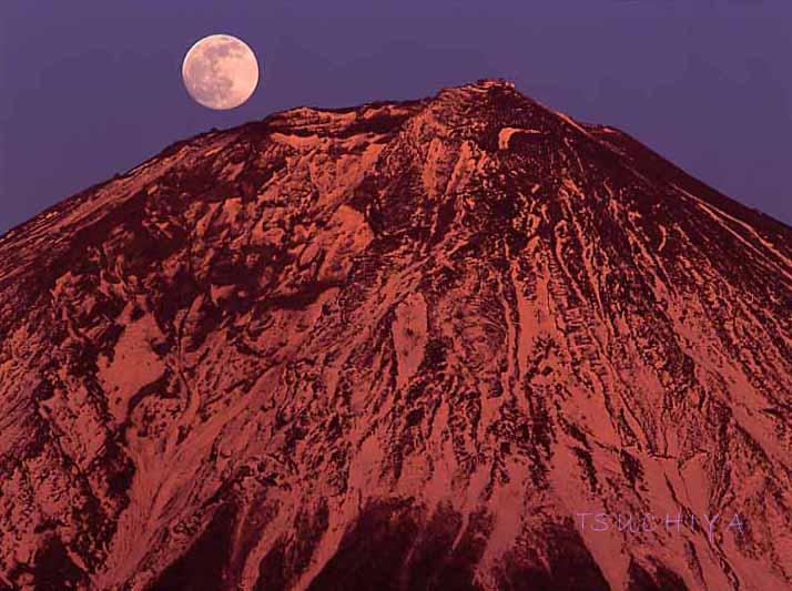富士山 満月