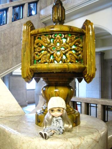 瀬戸の陶器製燭台
