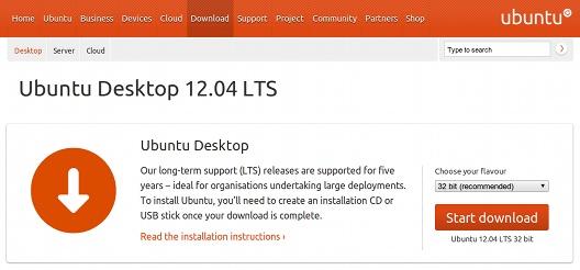 Ubuntu 12.04 LTS ダウンロード