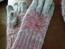 編み込み手袋