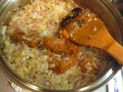 味噌と炒める