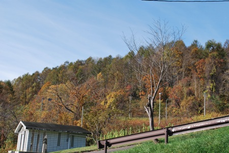秋の桂沢湖