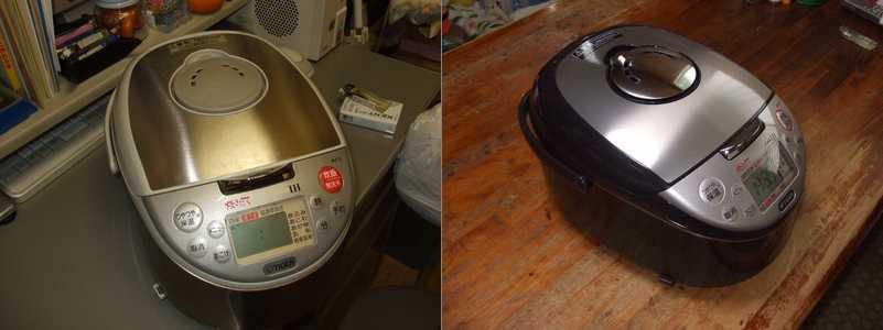 新旧の炊飯器