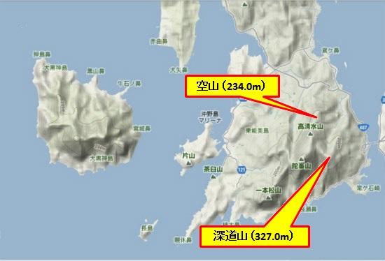 5)大柿町南部 深道山・空山
