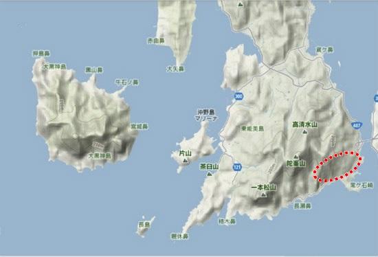 5)大柿町南部 大君南部の水晶山