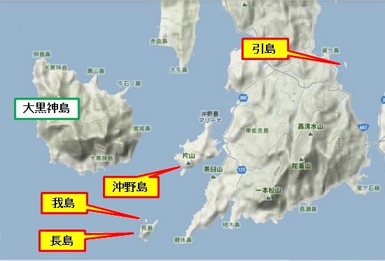 5)大柿町南部・引島・長島・我島