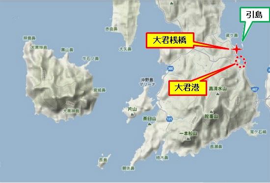 5)大柿町南部 大君港・大君桟橋