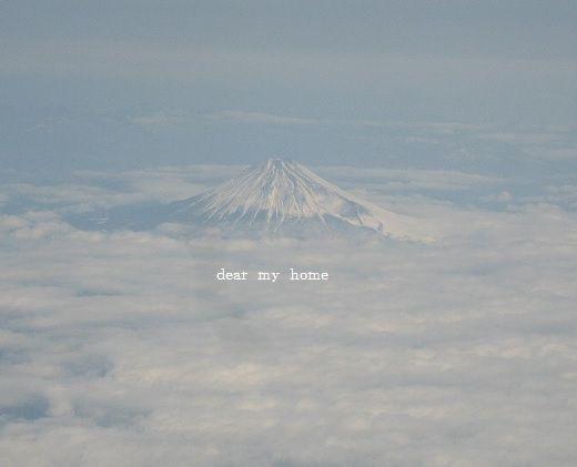 天空から富士山