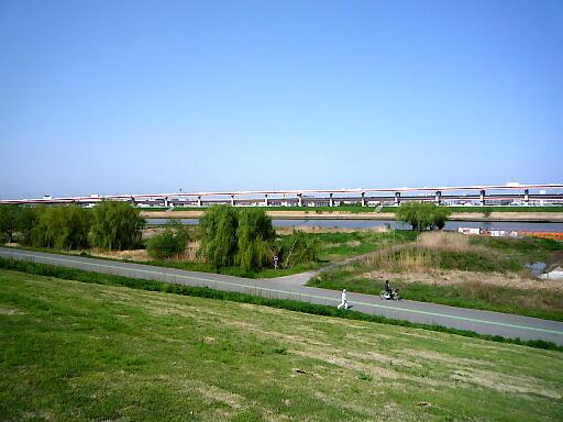江北橋から鹿浜橋のコース