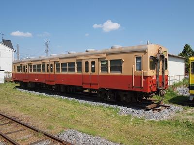 国吉駅に留置中の元久留里線キハ30