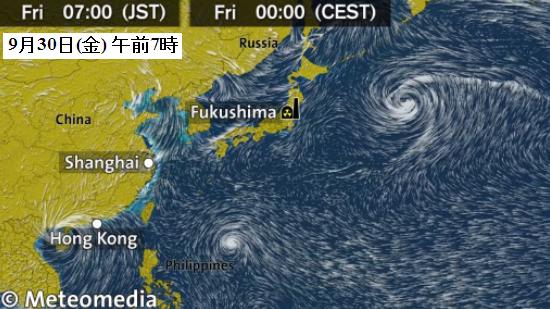 東アジア風向き予想図