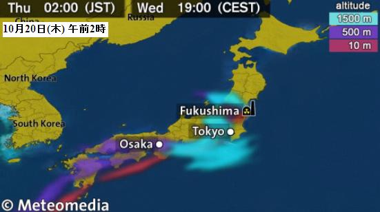 日本放射線拡散予想図
