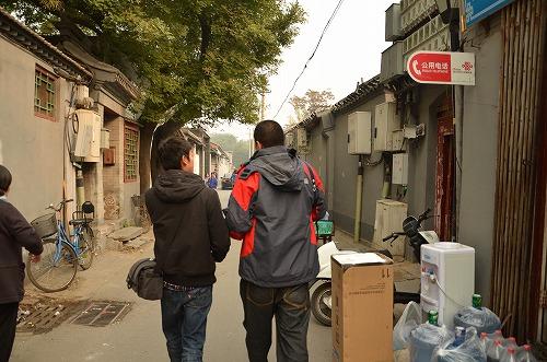 091たくさんと台湾人の三人で散歩。二人ともカメラマン志望