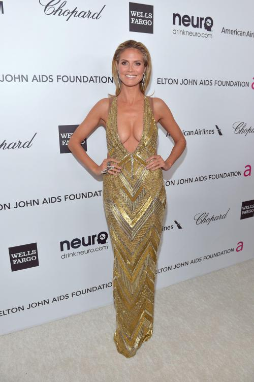 Heidi Klum - Elton John AIDS Oscar Party in West Hollywood08