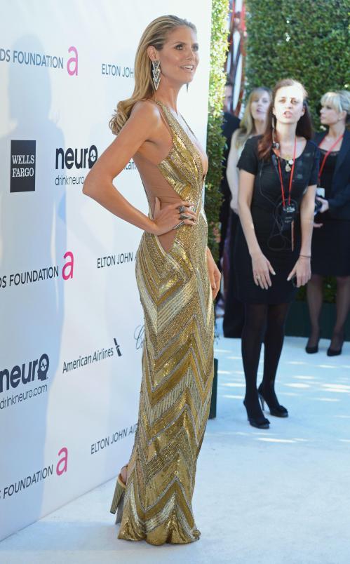 Heidi Klum - Elton John AIDS Oscar Party in West Hollywood09