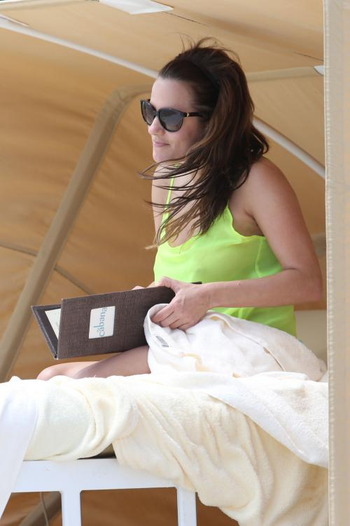 Caroline Flack at the beach in Miami 011