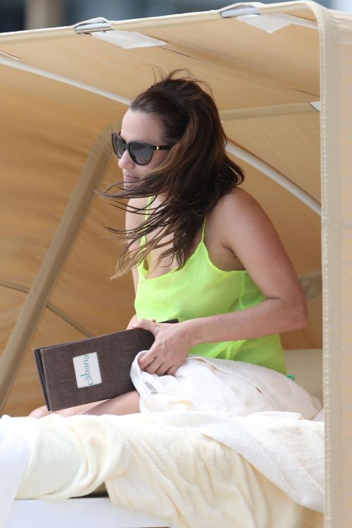 Caroline Flack at the beach in Miami 013