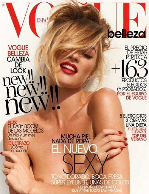Candice Swanepoel - topless covered Vogue Spain (May 2013)