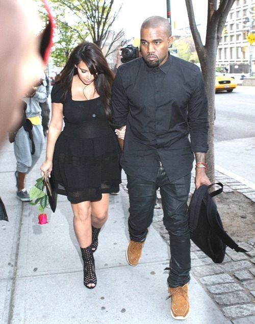 Kim Kardashian In A See-Thru Dress With Kanye West Out In NYC 001