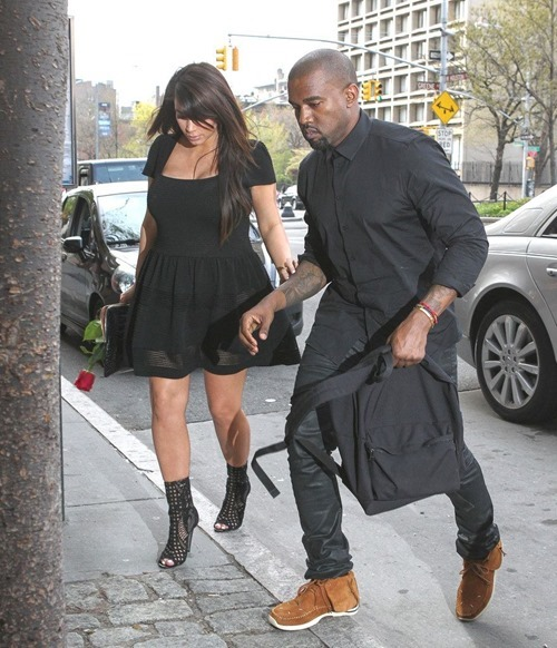 Kim Kardashian In A See-Thru Dress With Kanye West Out In NYC 002