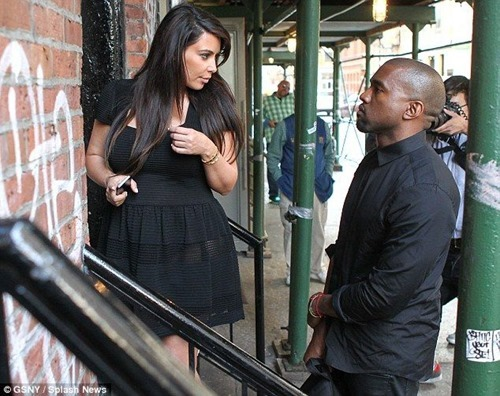 Kim Kardashian In A See-Thru Dress With Kanye West Out In NYC2 003