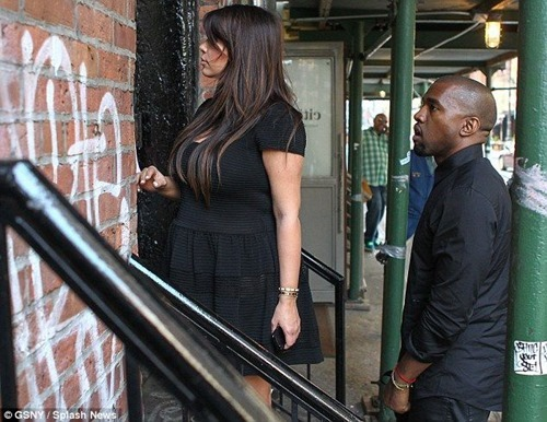 Kim Kardashian In A See-Thru Dress With Kanye West Out In NYC2 004